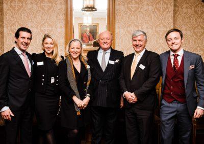 From left- Mark Cosgrove-Smith, Leonora Smee, Karen Smee, Roger Smee, David Seward, Cameron Smee